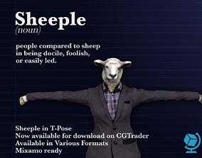3D asset Sheeple T Pose