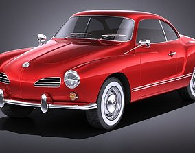 Volkswagen Karmann Ghia Coupe 1955-1974 VRAY 3D model