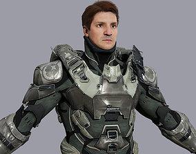 Eddie - Realistic Space Ranger in Armour - 3D model 3