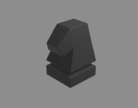 3D printable model chess pieces knight