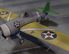 Grumman F4F-3 Wildcat 3D model