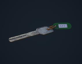 3D asset Hotel Key