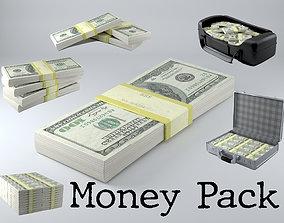 3D asset Money Pack - Game ready - PBR