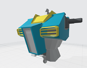 3D printable model 1 to 100 scale Gundam or GM Upper