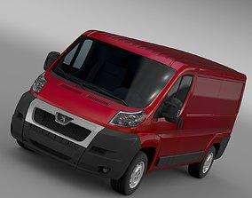 3D model Peugeot Boxer Van L2H1 2006-2014
