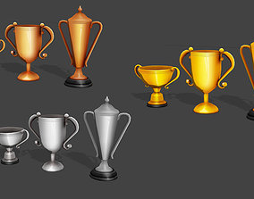 3D asset Low Poly Trophy Pack