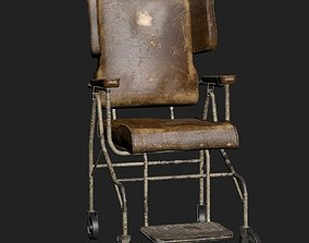 abandoned 3D model Old Worn Wheelchair