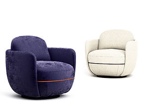 3D model Wittmann Miles Lounge armchair