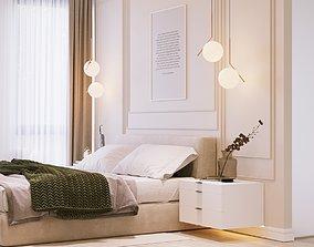 3D model Bedroom Interior Scene and Corona Render