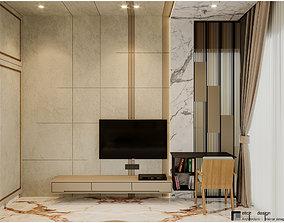 Modern Master Bedroom 3D model- corona render