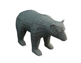 3D model Low Poly Base Mesh Bear