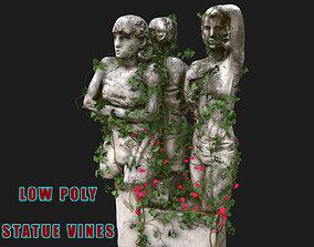 Statue Vines 01 - Low Poly 3D model