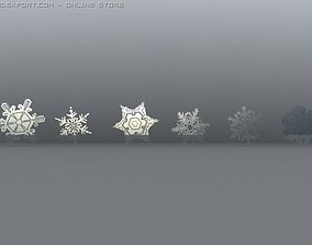 Snowflakes various-models 3D model