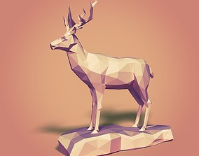 Cartoon Deer LowPoly 3D model