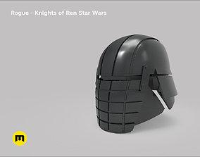 3D print model Rogue helmet - Knights of Ren - Star Wars
