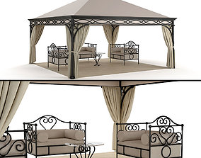 3D model forged Malatesta Unosider Gazebo