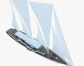Sailboat yacht 3D model