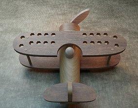 Wooden plane pencil holder 3D print model