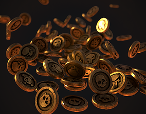 3D asset Stylize Pirate Gold Coin