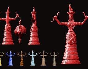 3D printable model The Snake Goddess