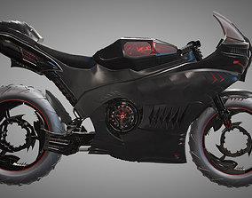 motorbike Futuristic Motorcycle 3D model
