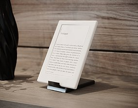 3D asset Ebook-reader White with Stand