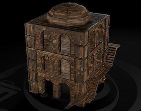 3D model AAA Wooden Enterable Medieval Primal Watchtower 1