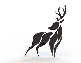 Artistic Modern Deer Wall decor 3D print model