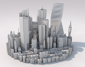 Sci Fi Cityscape Mega Pack Cyberpunk 57 Greeble 3D 1