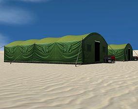 3D asset Big Army Tent