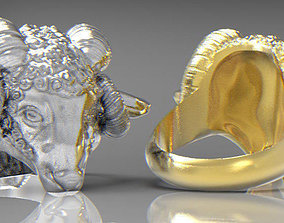 3D printable model ring Ram