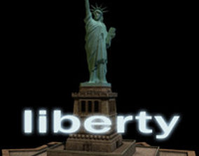Statue of Liberty textured 3D