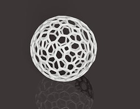 Voronoi style globe or sphere primitive for 3D printing