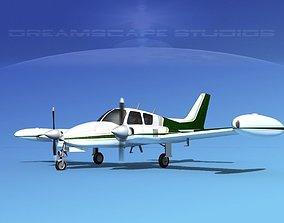 3D model Cessna 310 V06