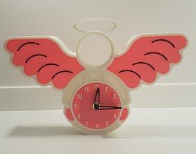 Angel clock 3D print model