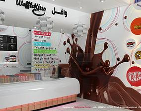 3D model Chocolate Store Interior Design