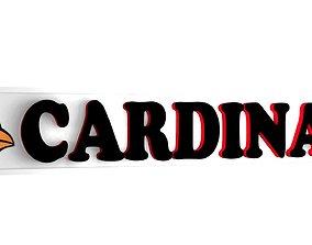 Cardinals logo plate 1 3D
