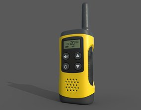 3D asset VR / AR ready Walkie talkie radio