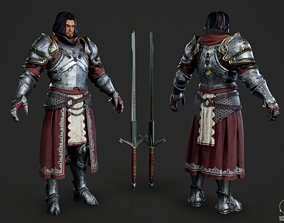 European Knights of the Middle Ages warrior 3D model 1