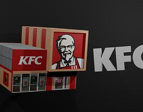 KFC fastfood restaurant 3D model