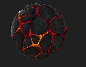 3D model Rocks with Lava