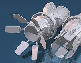 3D model Spaceship engines 2