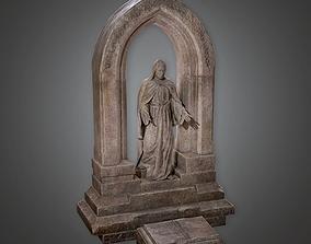 Stone Statue Cemetery 2 CEM - PBR Game Ready 3D asset