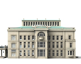 Villa Huegel Essen 3D model structures