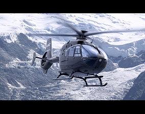 Eurocopter EC 135 Black Helicopter 3D model