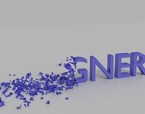 model animated 3D text animation