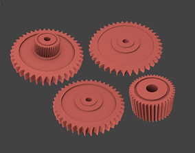 Different Gears 3D print model