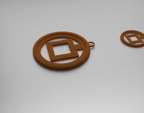 3D print model Squares Pendant