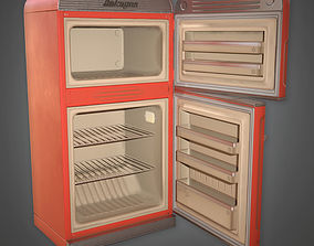 3D model Retro Refrigerator Midcentury Collection PBR Game