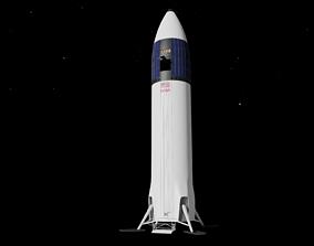 3D SpaceX Starship Moon Lander - Artemis 3 -